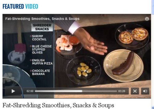 Dr. Ian Smith (of Celebrity Fit Club fame) suggesting healthy snacks on Dr. Oz recently. Healthy maybe, but ...